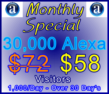 350x300_Alexa_Monthly_30,000_58usd: Sales Support Special Offer Banner Link
