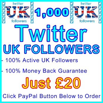 db-B2B-UK 1,000 UK Twitter Followers 20GBP: Service-Type Visitor Support Banner