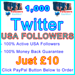 db-B2B-UK 1,000 USA Twitter Followers 10GBP