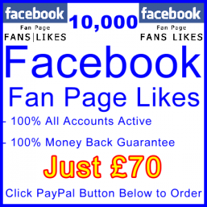 db-B2B-UK 10,000 FB Fan Likes 70GBP: Visitor Support Sales Banner