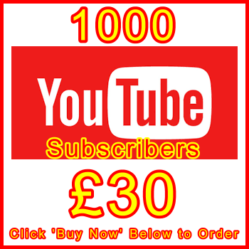 db-B2B-UK 1000_youtube_subscribers_30GBP: Visitor Support Sales Banner