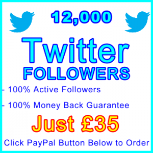 db-B2B-UK 12,000 Twitter Followers 35GBP: Visitor Support Sales Banner