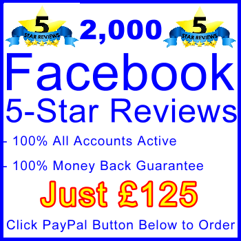 db-B2B-UK 2,000 FB 5-Star Reviews 125GBP: Visitor Support Sales Banner