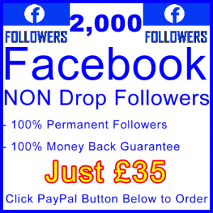 db-B2B-UK 2,000 FB Followers 35GBP: Visitor Support Sales Banner