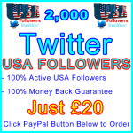 db-B2B-UK 2,000 USA Twitter Followers 20GBP