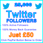 db-B2B-UK 25,000 Twitter Followers 50GBP