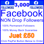 db-B2B-UK 3,000 FB Followers 50GBP