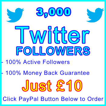 db-B2B-UK 3,000 Twitter Followers 10GBP: Visitor Support Sales Banner