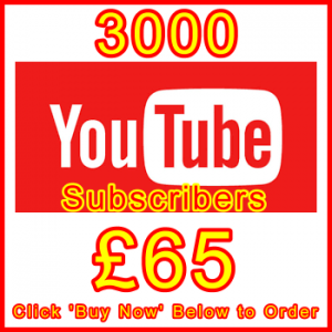 db-B2B-UK 3000_youtube_subscribers_65GBP: Visitor Sales Support Banner