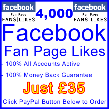 db-B2B-UK 4,000 FB Fan Likes 35GBP: Visitor Support Sales Banner