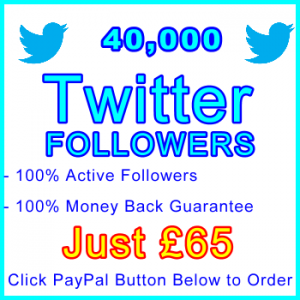 db-B2B-UK 40,000 Twitter Followers 65GBP: Visitor Support Sales Banner