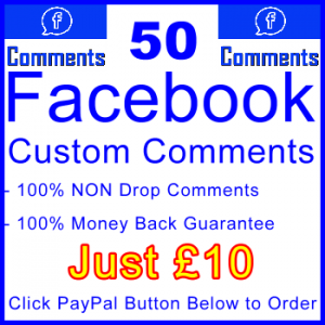 db-B2B-UK 50 FB Comments 10GBP: Visitor Support Sales Banner