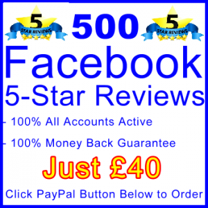 db-B2B-UK 500 FB 5-Star Reviews 40GBP: Sales Support Banner