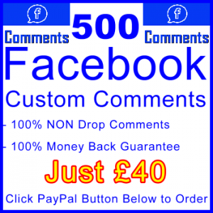 db-B2B-UK 500 FB Comments 40GBP: Visitor Support Sales Banner