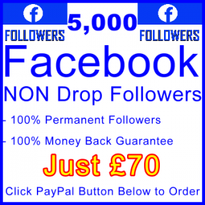db-B2B-UK 5,000 FB Followers 70GBP: Visitor Support Sales Banner