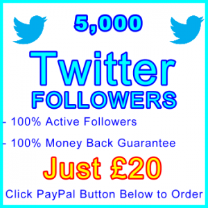 db-B2B-UK 5,000 Twitter Followers 20GBP: Visitor Support Sales Banner