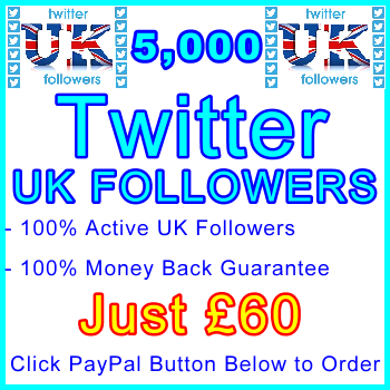 db-B2B-UK 5,000 UK Twitter Followers 60GBP: Service-Type Visitor Support Banner