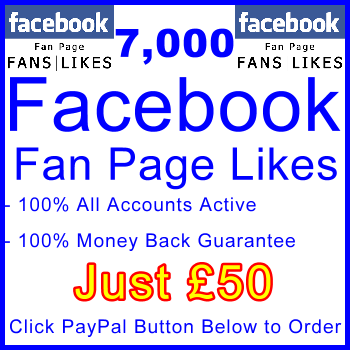 db-B2B-UK 7,000 FB Fan Likes 50GBP: Visitor Support Sales Banner
