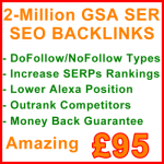 2-Million GSA SER Backlinks 95GBP