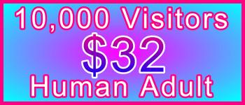 Adult 10,000 Visitors $32: Visitor Sales Information Support Banner