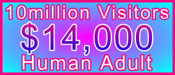 Adult 10 million Visitors $14000: Visitor Sales Information Support Banner