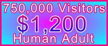 Adult 750,000 Visitors $1200: Visitor Sales Information Support Banner