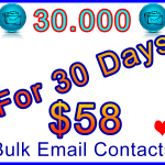 Ste-B-B2B 30,000 For 30 Days Bulk Emails $58