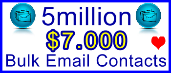 350x100 5 Million Emails 4,400usd: Client Signup & Sales Support Banner Link - Geo-targeted and niche targeted bulk email contacts