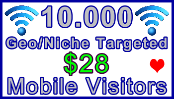 Ste-B-B2B Mobile Visitors 10,000 $28: Visitor Sales Information support banner