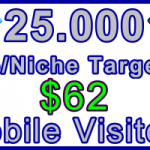 Ste-B-B2B Mobile Visitors 25000 $62