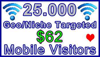 Ste-B-B2B Mobile Visitors 25000 $62: Visitor Sales Information support banner