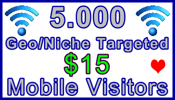 Ste-B-B2B Mobile Visitors 5000 $15: Visitor Sales Information support banner