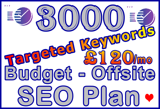 Ste-B-B2B SEO-Solutions Offsite SEO 3,000 keywords £120: Visitor Sales Support Information Banner