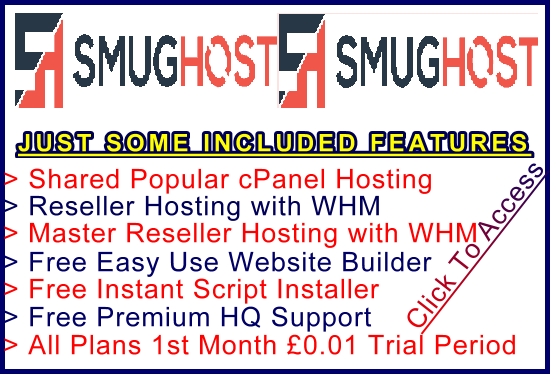 Ste-B2B SmugHost Example Banner Link White: Visitor Affiliate Marketing Information Support Banner Link