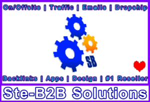 Ste-B2B Cogs Logo + Text 550 x 374 Banner - Visitor Homepage Navigation Support Logo Banner