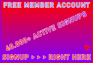 B2B-Ste Free Member Account 40,000+ Visitor Signup Area Navigation Support